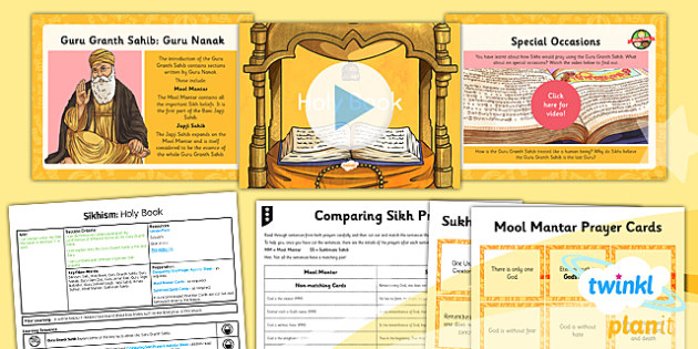 RE: Sikhism: Holy Book Year 3 Lesson Pack 5