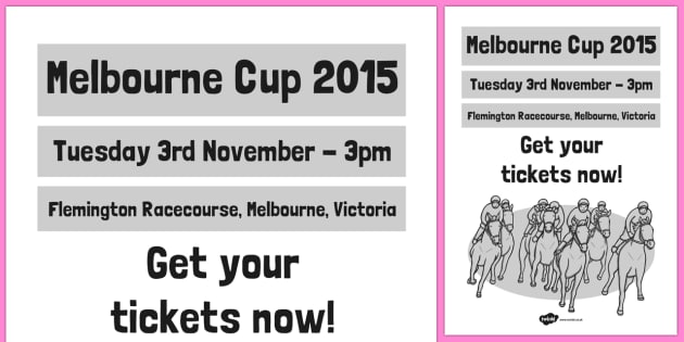 The Melbourne Cup Poster - australia, melbourne cup, poster, display