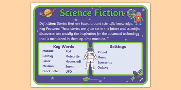 Story Genres Science Fiction Display Poster - story genres