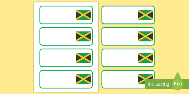 Jamaica Themed Editable Drawer-Peg-Name Labels (Blank) - Themed Classroom Label Templates, Resource Labels, Name Labels, Editable Labels, Drawer Labels, Coat Peg Labels, Peg Label, KS1 Labels, Foundation Labels, Foundation Stage Labels, Teaching Labe
