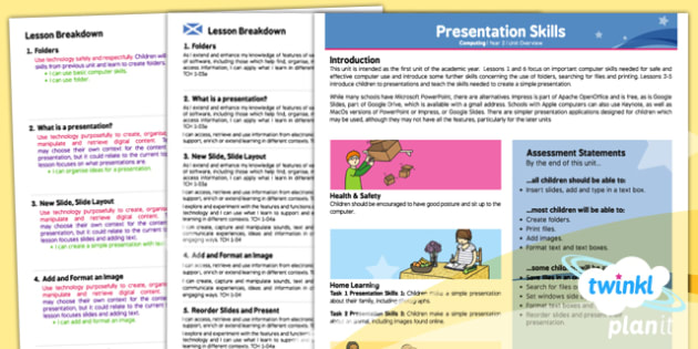 Computing: PowerPoint Presentation Skills Year 2 Planning Overview CfE