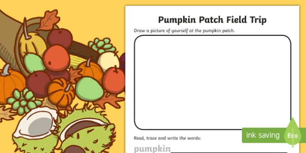 Pumpkin Patch Field Trip Activity Sheet