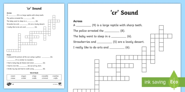 Cr sound differentiated crossword jolly phonics jolly cr sound differentiated crossword jolly phonics jolly grammar phonics grammar ccuart Image collections