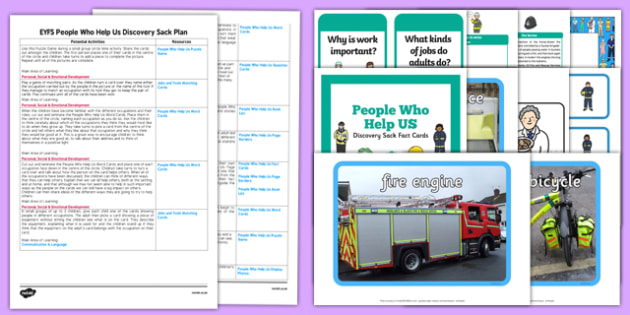 EYFS People Who Help Us Discovery Sack Plan and Resource Pack - discovery sack, people who help
