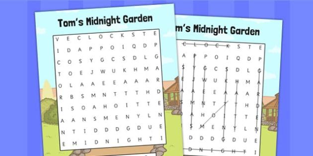 Toms Midnight Garden Wordsearch - wordsearch, words, garden