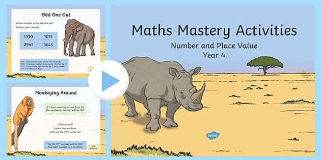 maths mastery activities year 4 number and place value powerpoint. Black Bedroom Furniture Sets. Home Design Ideas