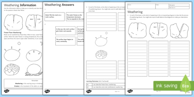 Ks3 Weathering Homework Worksheet Worksheet
