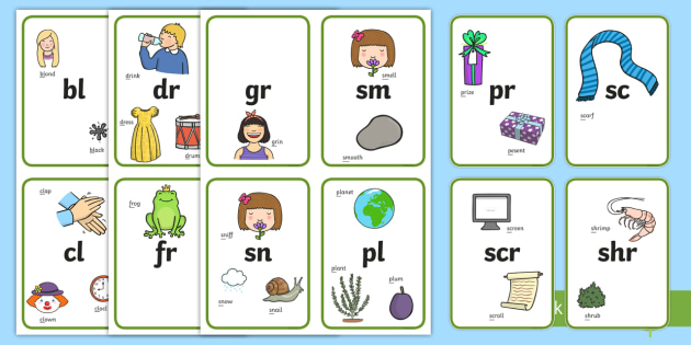 Blends and Clusters Flashcards - Blends and Clusters Posters ...