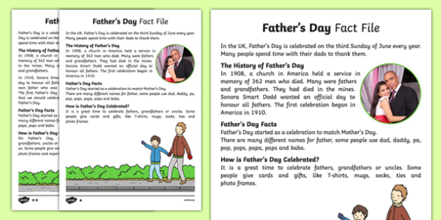 KS1 Father's Day Differentiated Fact File