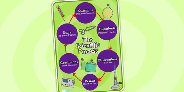 Scientific Process Display Poster - scientific process, display poster, science display poster, science poster, science, posters, science display
