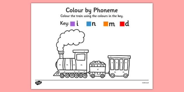 Colour by Phoneme Train Phase 2 i n m d - colour, phonemes, train, phase 2, satpin