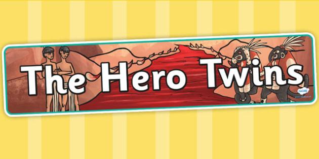 The Hero Twins Mayan Civilization Story Display Banner - maya