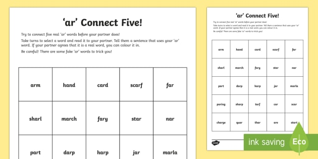 ar' Sound Connect Five Worksheet / Worksheet - jolly phonics ...