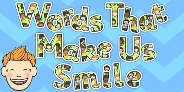 Words That Make Us Smile Display Lettering - display, lettering