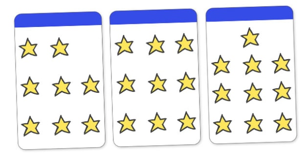 Count the Stars Activity Cards (1-10) - Maths, Math, star, stars, counting, Counting on, Counting back, counting card, counting activity, one to one counting, flashcard, matching cards