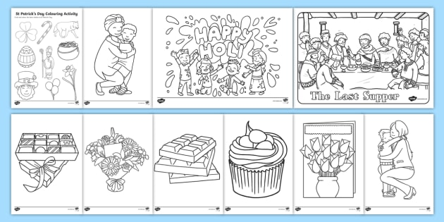 NEW * KS1 March Colouring Pages