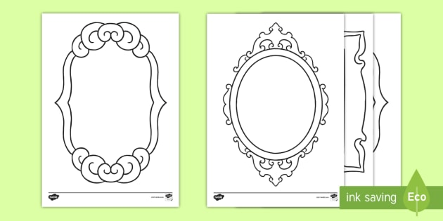 new mirror template activity sheet colour all about me