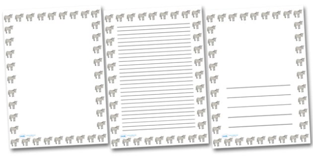 Simpsons Donkey Portrait Page Borders- Portrait Page Borders - Page border, border, writing template, writing aid, writing frame, a4 border, template, templates, landscape