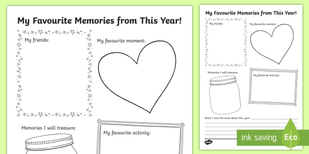 End of the Year Writing Worksheet / Worksheet - End of the