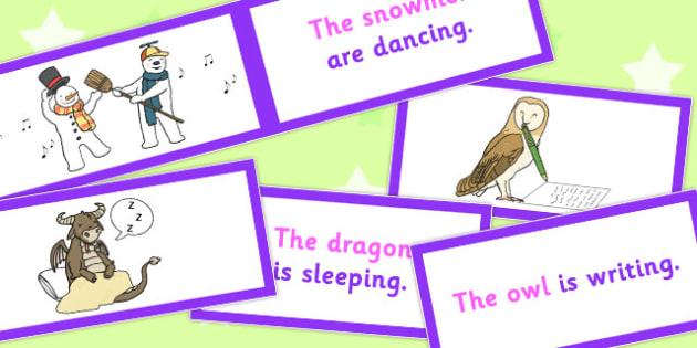 SV Picture Description Cards Unusual Sentences Set 2 - describe