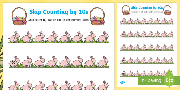 Easter Skip Counting by 10s Worksheet / Worksheet