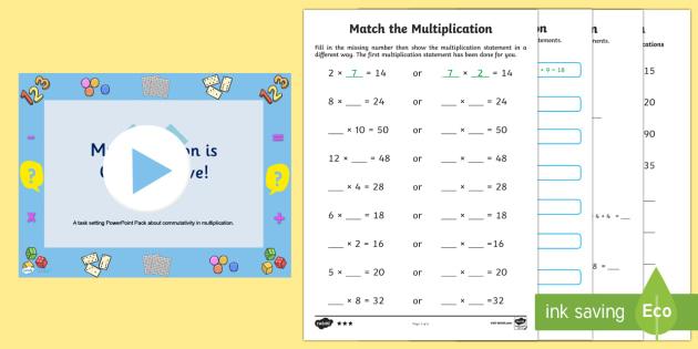Multiplication Commutativity Task Setter Powerpoint With