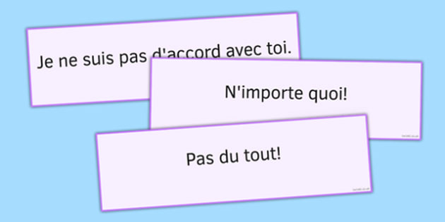 D'accord/Pas d'accord Cartes - french, D'accord/Pas d'accord Cartes