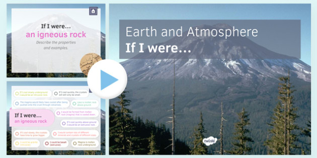 KS3 Earth and Atmosphere If I were... PowerPoint