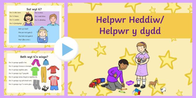 Welsh Language Patterns PowerPoint Presentation for Nursery Reception - patrwm yr wythnos, welsh, cymraeg, PowerPoint, Welsh Second Language, Weather, Who are you?, Nursery/Reception