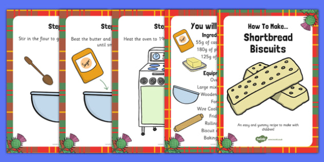 Shortbread Recipe Cards - shortbread, recipe, cards, cook, bake