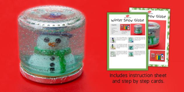 Winter Snow Globe Craft Instructions - christmas, pack, craft