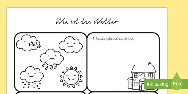 Wie ist das Wetter Arbeitsblatt - Draw the Weather Worksheet /