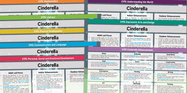 EYFS Cinderella Lesson Plan and Enhancement Ideas - EYFS, cinderella, lesson idea, planning