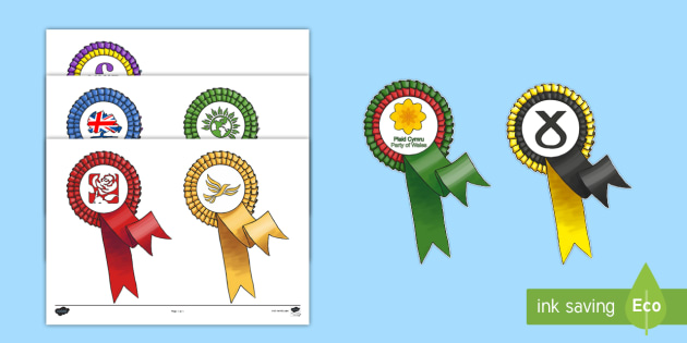 Rosette Template - rosette, template, vote, election, party