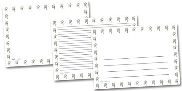Lily Landscape Page Borders- Landscape Page Borders - Page border, border, writing template, writing aid, writing frame, a4 border, template, templates, landscape