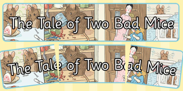 The Tale of Two Bad Mice Display Banner - two bad mice, display banner