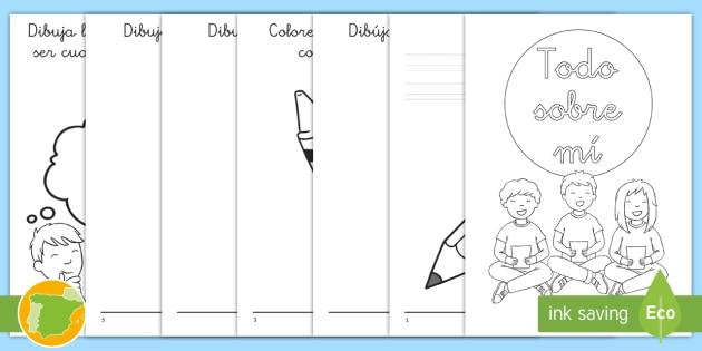 Cuadernillo: Todo sobre mí - primer día, dibujar, favorito