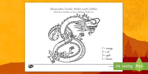 Chinesischer Drache Malen Nach Zahlen Chinesicher Drache Malen