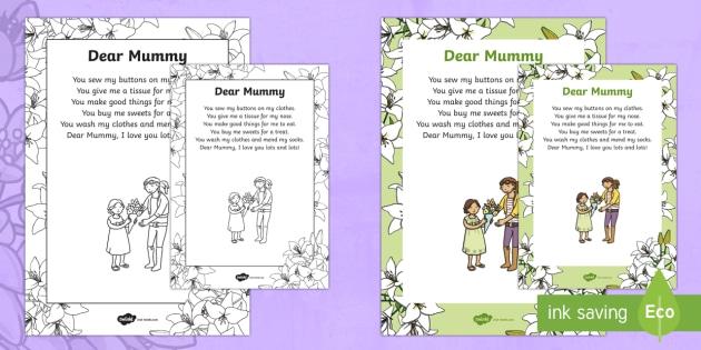 Mother's Day Poem - KS1 & KS2 Mother's Day UK (26.3.17), poem, poetry, gift, recite, share.