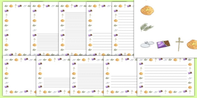 Lent Themed Page Borders - lent, themed, page borders, page, borders, writing frame, easter