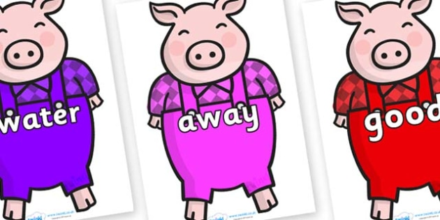 Next 200 Common Words on Pigs - Next 200 Common Words on  - DfES Letters and Sounds, Letters and Sounds, Letters and sounds words, Common words, 200 common words