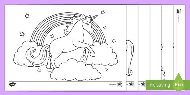 NEW Unicorn Coloring Pages