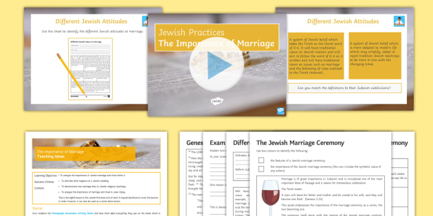 An examination of the importance of marriage to the individual and the community within judaism