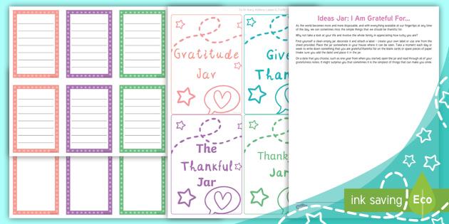 Free Ideas Jar I Am Grateful For Teacher Made