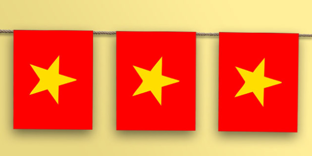 Vietnam Flag Bunting - world, geography