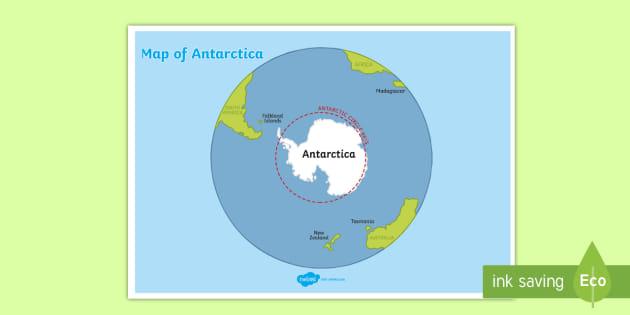 World Map of Antarctica Display Poster (teacher made)