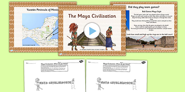 Introduction to the Maya Civilization Lesson Teaching Pack PowerPoint