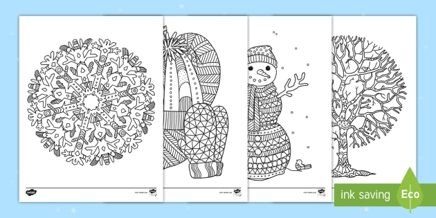 twinkl winter coloring pages - photo#14