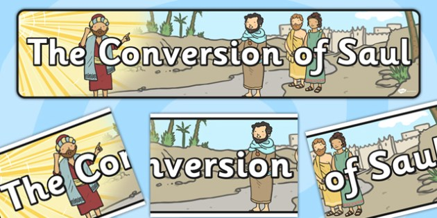The Conversion of Saul Display Banner - banners, displays, visual, road to damascus
