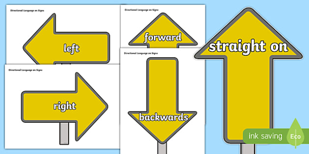 Directional Language on Arrows - cfe, curriculum for excellence, directional language, arrows, display